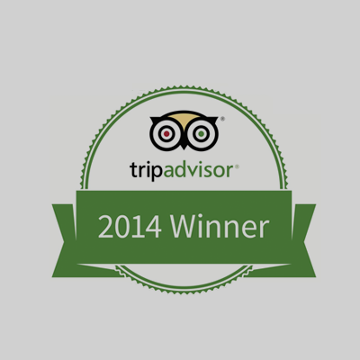 Trip Advisor 2014 Winner Badge for Bill Beard Costa Rica