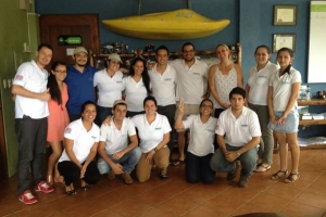 This is our reservation and adventure team in Costa Rica